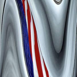 U.S. Flag Abstract by Debra Kewley