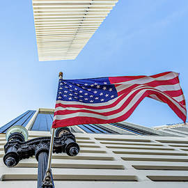 United States Flag on the Streets of Miami by Luis GA