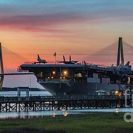 Uss Yorktown Cv-10 In Charleston South Carolina by Dale Powell
