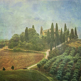Val d'Orcia Tuscany Italy Textured by Joan Carroll