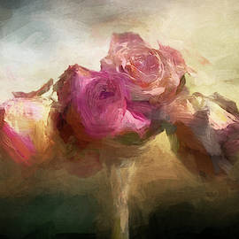 Vase with Roses by Terry Davis