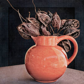 Vase With Seed Pods by Sandra Selle Rodriguez