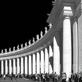 Vatican - People Lined Up  by Stefano Senise