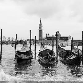 Venice Grand Canal Gondolas  by Georgia Fowler