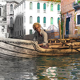 Venice Pause in the Evening by Betsy Knapp