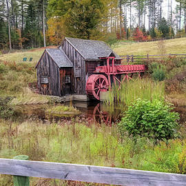 Vermonts Guildhall Gristmill by Jeff Folger