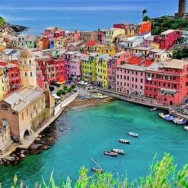 Vernazza Alight by Frozen in Time Fine Art Photography