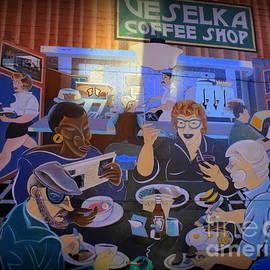 Veselka Coffee Shop - Mural Art New York City by Dora Sofia Caputo