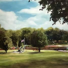 Veterans Memorial by Lake Cohen by Nancy Raborn