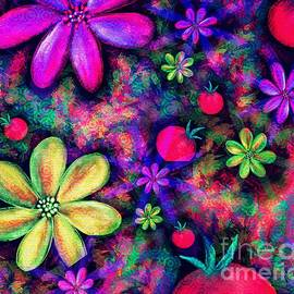 Vibrant Abstract Garden by Laurie's Intuitive