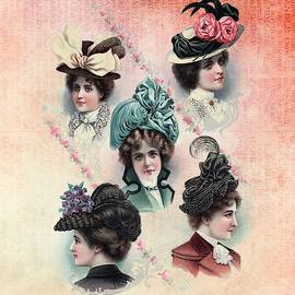 Victorian Ladies Hats Fashion Show by Shabby Chic and Vintage Art