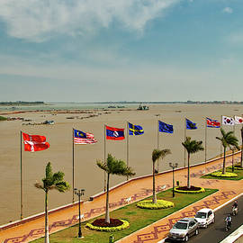 View from the FCC, Phnom Penh by Robert Murray