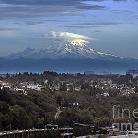 View from the Smith Tower - facing southeast towards Mount Rainier, Seattle, WA by Mr Pat Hathaway Archives