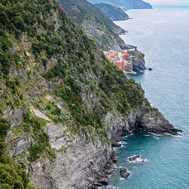 View of Vernazza Cinque Terre Italy by Joan Carroll