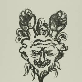 Vignette - Satyr's Head by Edvard Munch