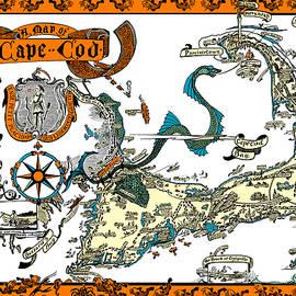 Vintage Cape Cod Map 2 by Joy McKenzie