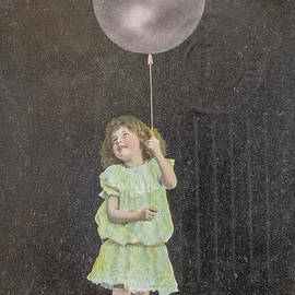 Vintage child with balloon by Patricia Hofmeester