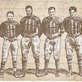 Vintage Football Heroes by Clint Hansen
