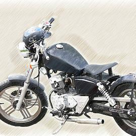 Vintage Honmaki Motorbike - Dwp1720526 by Dean Wittle