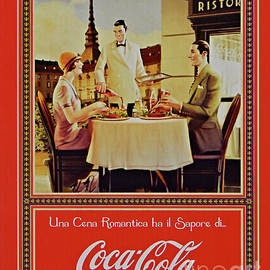 Vintage Italian Coca Cola Poster by Peter Horrocks