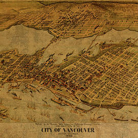 Design Turnpike - Vintage Map of Vancouver British Columbia Canada 1898