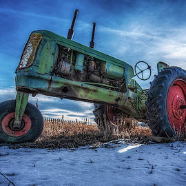 Vintage Oliver Tractor in Winter by Christopher Thomas