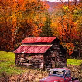 Vintage Red Ford by Debra and Dave Vanderlaan