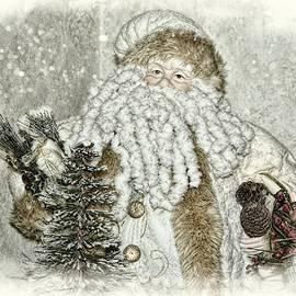Vintage Santa In Soft Color by Toni Abdnour