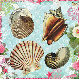 Vintage Shells 2 - A Day At The Beach by Peggy Collins