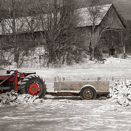 Vintage Vermont Tractor On The Farm by Jeff Folger