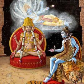 Vishnu, Shiva, and Brahma by Dominique Amendola