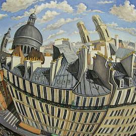 Vu Du 6me- Paris by Linda Mccluskey