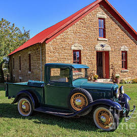 W E Barnes Apple Barn And 32 Ford by Kevin Anderson