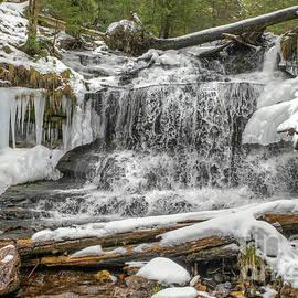Wagner Waterfalls Munising Michigan -8116 by Norris Seward
