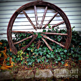 Wagon Wheel Circle and Lines by Frank J Casella