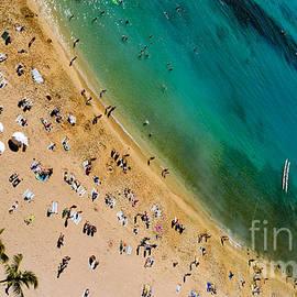 Waikiki Beach Life from Above by Debra Banks