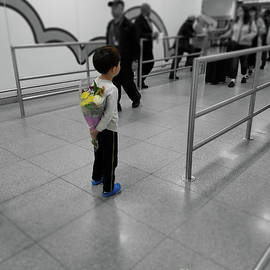 Waiting For Mom At The Airport by Jeff Breiman