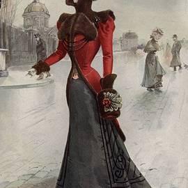 Walking Dress by Hulton Archive