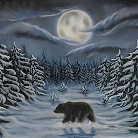 Walking In The Snow by Marta Kazmierska