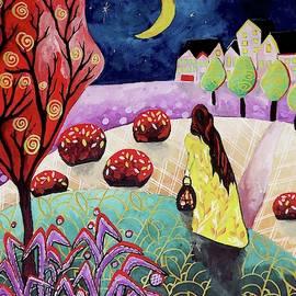 Walking the Night, art by Christine Onward by Christine Onward
