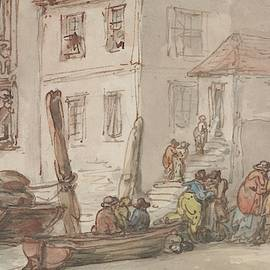 Wapping Old Stairs by Thomas Rowlandson