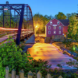 War Eagle Mill Lights On The Bridge by Gregory Ballos