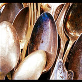 Warm Silverware Triptych by Carol Groenen