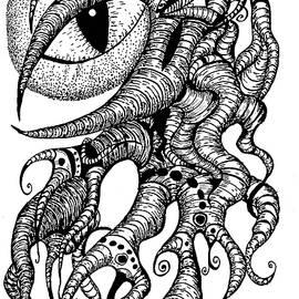 Watching Eye Creature With Tentacles by Yulia Kazansky