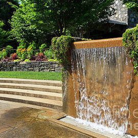 Water Fountain At North Carolina Arboretum In Asheville by Jill Lang