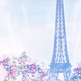 Watercolor Eiffel Tower by Diann Fisher