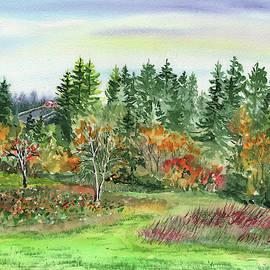 Watercolor Fall Impressionistic Landscape  by Irina Sztukowski