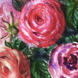Watercolor Flowers Bouquet Natures Breath Iv by Irina Sztukowski