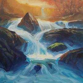 Waterfall by Elena Sokolova