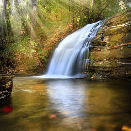 Waterfall Light by Debra and Dave Vanderlaan